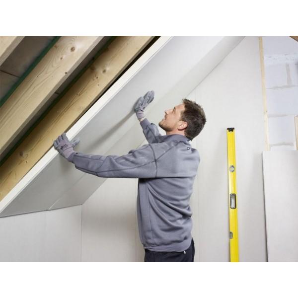 Pose sous pente Isolant polyurethane Mur Eurothane G Ba13+PU panneau polyurethane