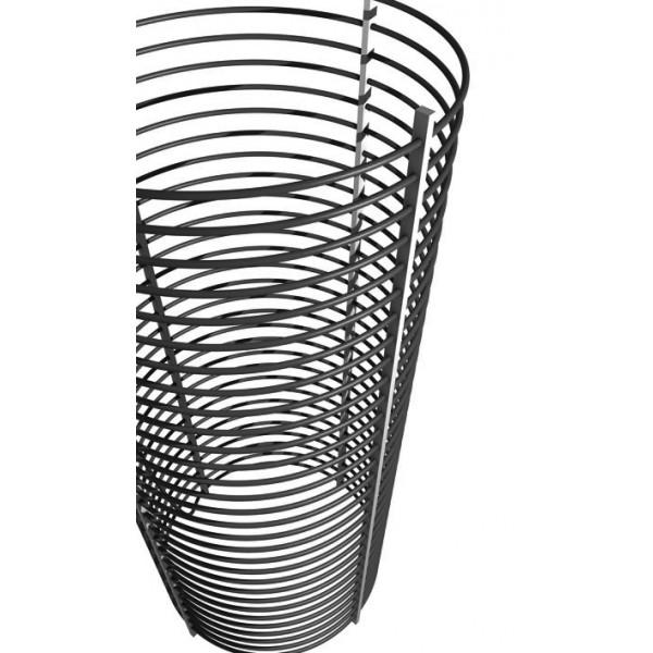 Corbeille tube spiralé capteur geothermique