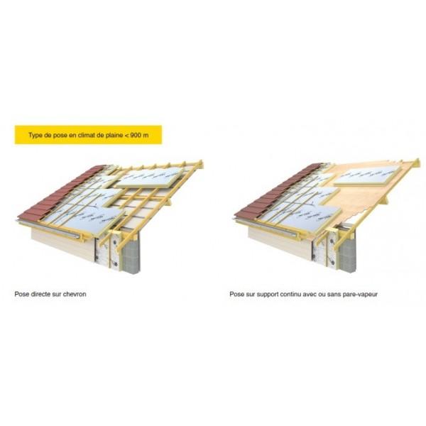 Isolant polyurethane Sarking Eurotoit , isolant toiture extérieur