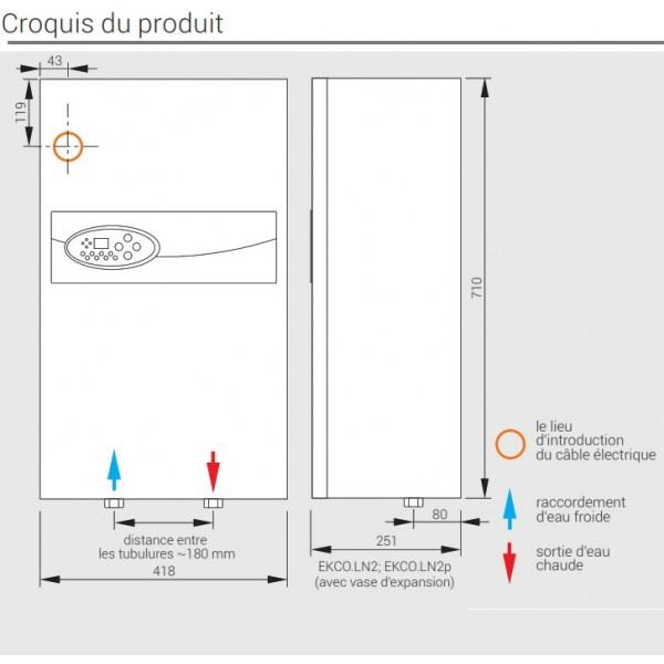 Chaudière electrique EKCO LN2M Kospel