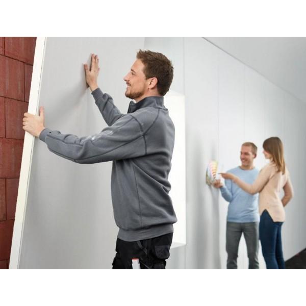 Pose sur mur Isolant polyurethane Mur Eurothane G Ba13+PU panneau polyurethane